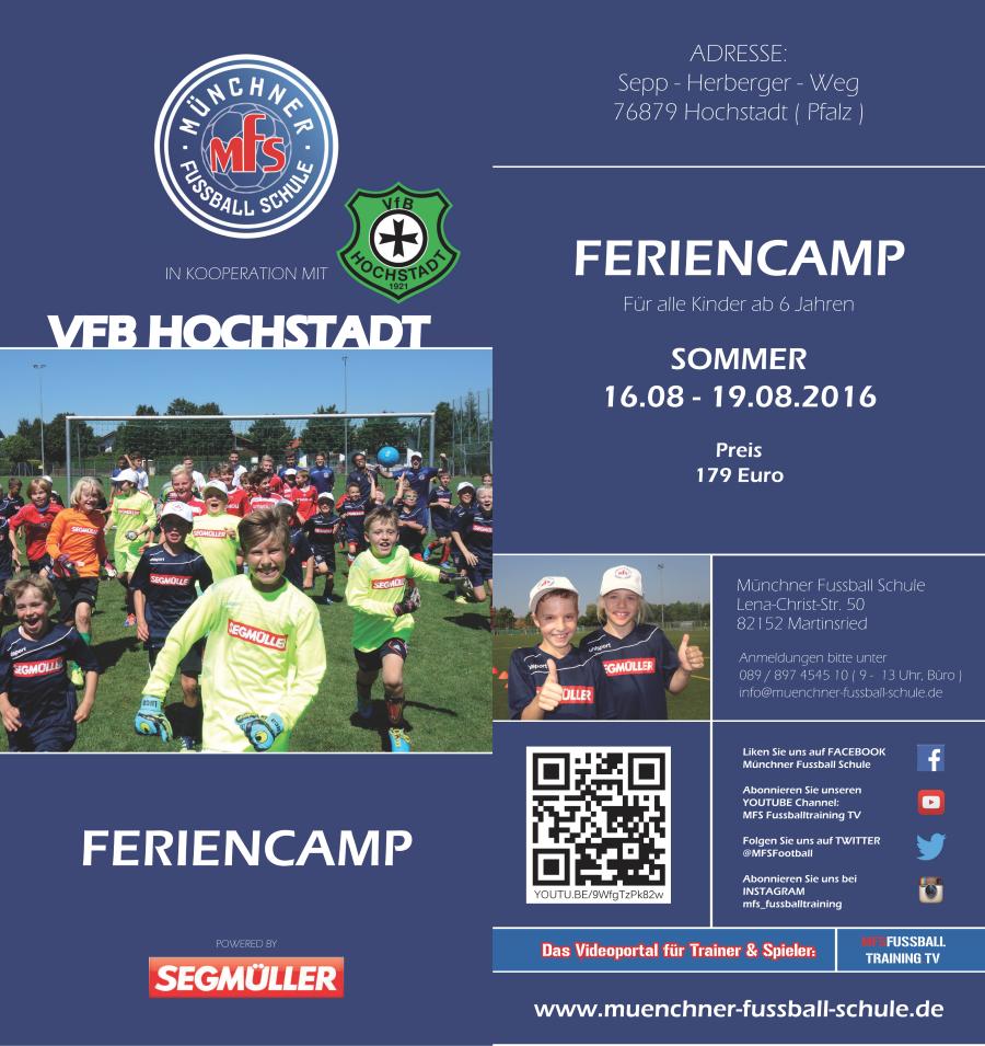Jugend-Feriencamp 2016
